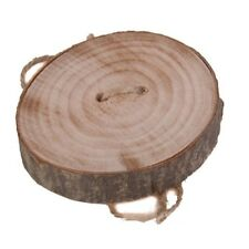 Round Party Display Decoration Wedding Ring Holder Pillow Rustic Wooden
