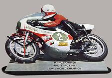 MOTO MINIATURE, JARNO SAARINEN, YAMAHA, MOTO GP EN HORLOGE, 01