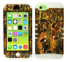 For Apple iPhone 5c KoolKase Hybrid Armor Silicone Cover Case - Camo Mossy 03