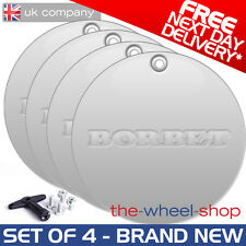 4 x Borbet Flat Caps and Bolt Kit for Borbet A Alloy Wheels