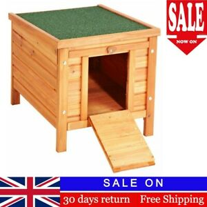 Outdoor Cat Dog Pet  Wood House Puppy Shelter Indoor Outside Wooden Deck Fort