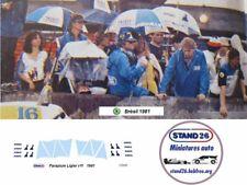 Decals umbrella parapluie Gitanes Ligier JS17 1981 Laffite Jarier 1/43e