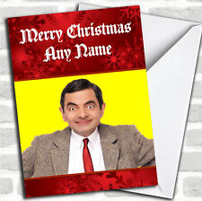 Mr Bean Christmas Customised Card