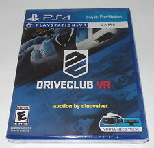 DRIVECLUB VR PS4 PLAYSTATION 4 DRIVING RACING GAME BRAND NEW SEALED DRIVE CLUB