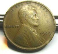 1909 Lincoln Cent Wheat Penny - Rare U.S. Copper Coin