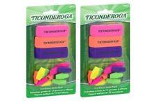 Ticonderoga Eraser Multi-Pack, Latex-Free, Multi-Colored, Set of 15 (2 Pack)