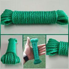 corde tressée 4mm x 10mts polyéthylène plastique câble etendoir auvents camping