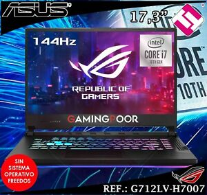 Portable Gaming ASUS Rog Strix I7 10750H 16GB 1TB SSD Nvidia RTX2060 Teletrabajo
