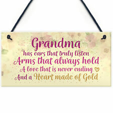 Heart Of Gold Grandparent Grandma Gran Nan Plaques Signs Birthday Gift Keepsakes