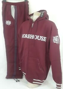 NWT MOREHOUSE COLLEGE AFRICAN AMERICAN COLLEGE ALLIANCE BY HEAD GEAR SWEAT SUIT