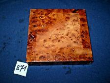 Rüster Maser Ulmenmaser   125 x 125 x 31 mm      Nr: 871