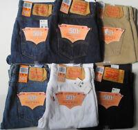 Levi´s ® 501 ® Herren Jeans Viele Größen Farben Stonewash schwarz blau Weiß NEU