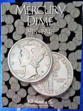 He Harris Mercury Dime 1916 - 1945 Coin Folder, Album Book # 2683