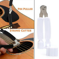 Integrated Bridge Pin Puller Winder String Winder&Cutter Acoustic Guitar Tool Ff