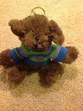 HugFun mini Plush Stuffed Ornament Teddy Bear with Knitted Sweater