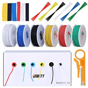 22AWG Electronics Wire kit, Jumper Wire Hook up Wire Kit Flexible Silicone Wire