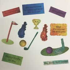 Golf Die Cuts, Fathers Day Dad/Grandad Uncle Birthday - Assorted Sets of 16 pcs