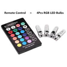 4pcs T10 6 SMD 5050 RGB Colorful Auto Car Lights LED Bulbs w/ Remote Control LJ