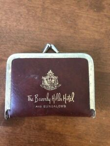 Vintage collectible The Beverly Hills Hotel and Bungalows portable sewing kit