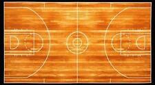 "Sports Life Basketball Court 24x44"" Large Cotton Fabric Panel"