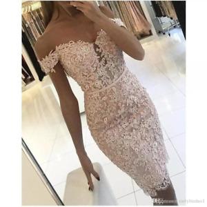 Short Mermaid Wedding Dresses Off shoulder Lace Applique Bead Bridal Gown Custom