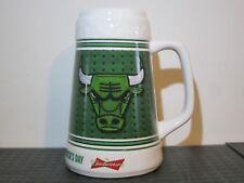 CHICAGO BULLS Budweiser ST. PATRICK'S DAY GREEN ceramic MUG. NBA  Basketball