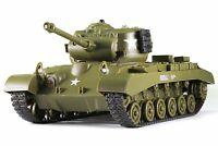 Pershing M26 US Tank RC IR Battle Panzer 2.4Ghz 1/30 Model WWII Military Vehicle