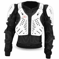 Motorcycle Body Armour Protector Motocross Motorbike Guard Jacket Black/White