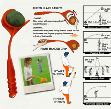 SINGLE HANDED CLAY PIGEON MANUAL HAND THROWER  target trap