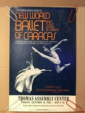 Vintage Ballet Poster New World Ballet Of Caracas Thomas Assembly Center Talley