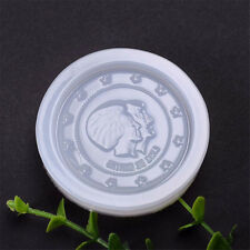 1pc Round Coin Silicone Mold DIY Fondant Cake Decorating Tools Baking Mou Fp