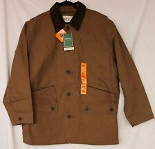 NWT Orvis Men's Barn Jacket XXL Brown Quilt Lining Corduroy Collar & Cuffs