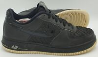 Nike Air Force 1 Low 07 LV8 Leather Trainers 718152-010 Black UK8/US9/EU42.5