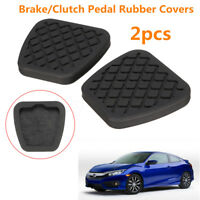 2x Rubber Brake Clutch Pedal Pad Cover Set For Honda Civic Accord CR-V Acura US