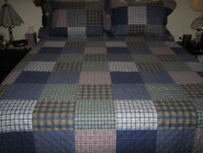 New ListingGlory Home Designs Patchwork Reversible Quilt Set w/Pillow Shams, Blue - King