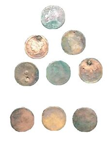 9 Pieces of Colonial & Early American Coinage (Copper)