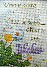 Counted cross stitch kit by Design Works Craft Dandelion Wishes 14 ct Aida