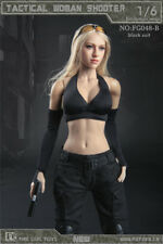 "Fire Girl Toys 1/6 FG048-B Tactical Female Shooter Black Clothing  F 12"" Figure"