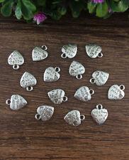 Wholesale 20pcs Tibet silver Heart LOVE Charm Pendant beaded Jewelry Findings W9