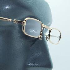 Folding Reading Glasses Petite Small Gold Frame Lightweight Lens Strength +1.00