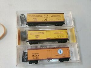 Micro-Trains NY Dispatch/MDT Wood Reefers (3 Total)(N Scale)(New)