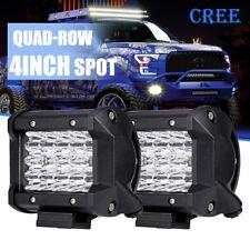 2x 4INCH 240W Quad ROW Spotlight LED Work Light Yacht Boat Fishing Lamp vs HID