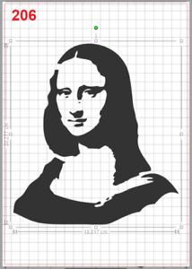 Mona Lisa Painting Stencil MYLAR A4 sheet strong reusable wall art craft deco