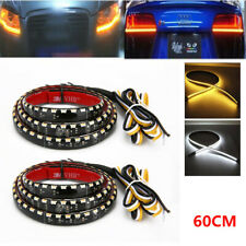2PCS 60CM LED Headlight Slim Strip Daytime Running Light Sequential Flow Lamp 6W