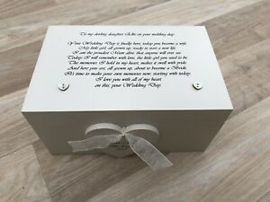 Daughter On Her Wedding Day sentimental Gift Memory Box PERSONALISED any name