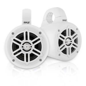 Pyle PLMRWB45W 4 Inch 300 Watt Waterproof Marine Tower Speaker System (1 Pair)