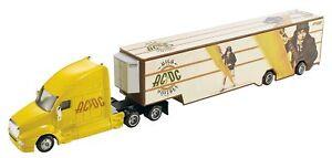 Hot Wheels Tour Haulers AC/DC High Voltage Semi Truck & Trailer Vehicle Set ~NEW