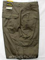 Mens Ex High Street Active Cotton Combat Cargo Trousers Jeans W44 L31 Grey PD27