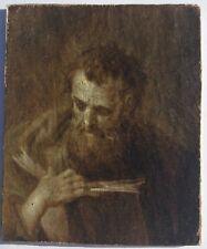 Portrait d homme 17eme 18eme école italienne huile sur toile