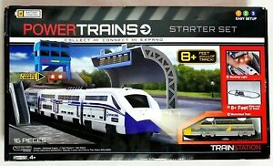 Power Trains Starter Set with 8+ Feet of Track Jakks Pacific Train Station New